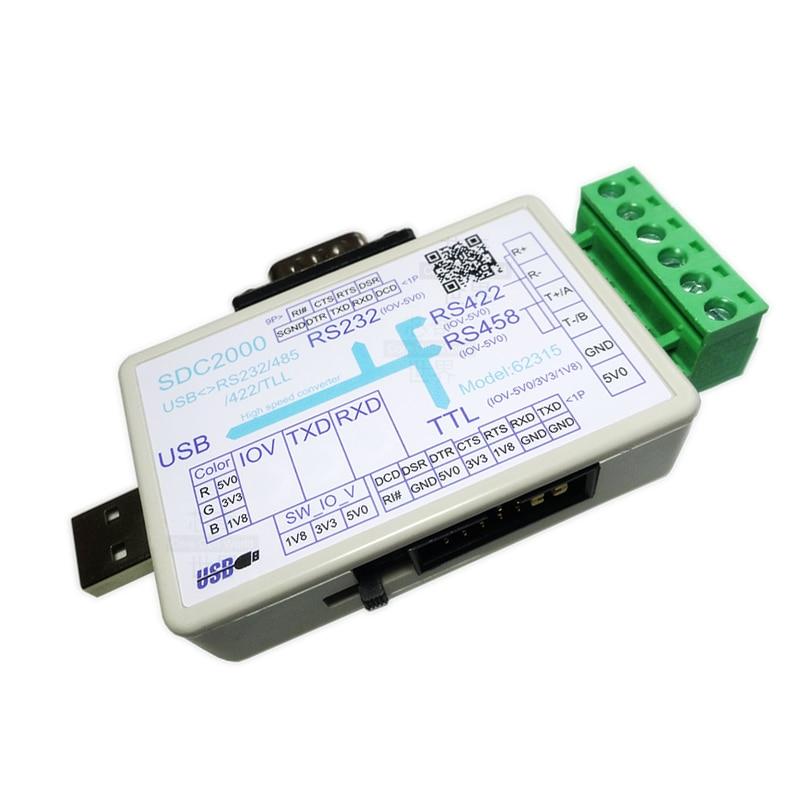 USB a RS232/TTL/485/422 convertidor DB9 serie actualizaciones máquina de cepillo downloader SDC2000