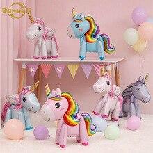 1pc 57cm Rainbow Unicorn Balloons Foil Figures Unicorn Party Decor Birthday Decoration Ballon Party Favors Baby Shower Girl Boy