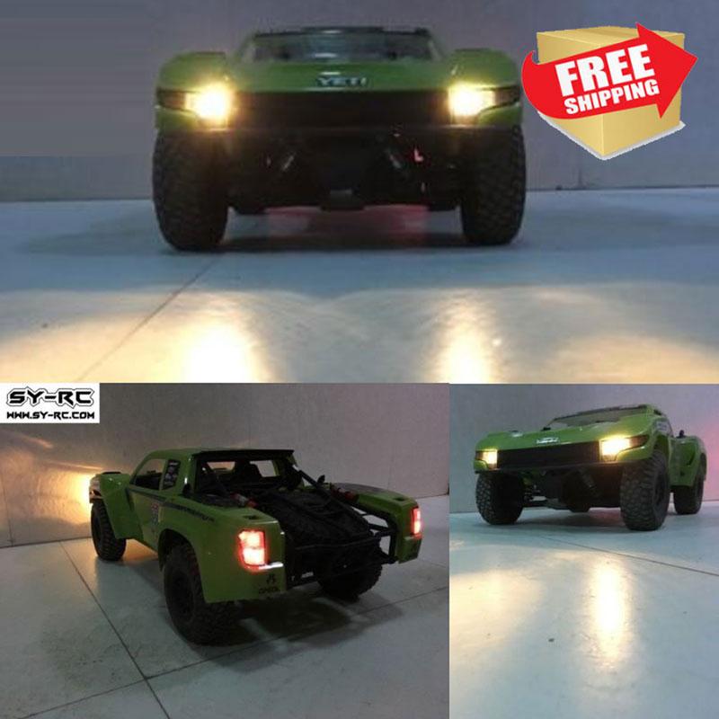 Luces LED de coche RC para Axial Yeti Score 90050