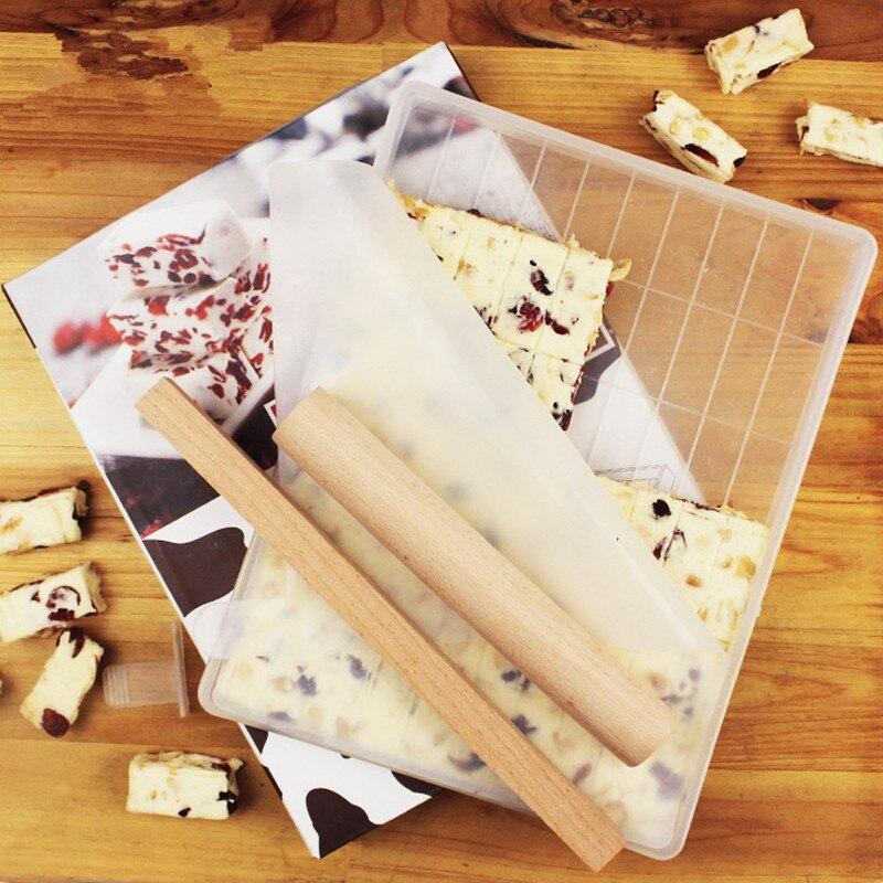 Nuevo 4 Conjuntos de azúcar de herramienta para hacer molde de turrón dulces para hornear hechos a mano nieve hacer pastel bandeja de Nougat de la herramienta de corte