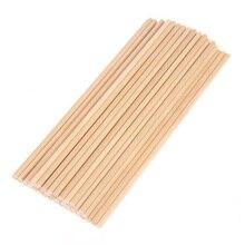 Wooden Craft Sticks Art Stems Round Wood Pieces Kids Construction Tool Elements