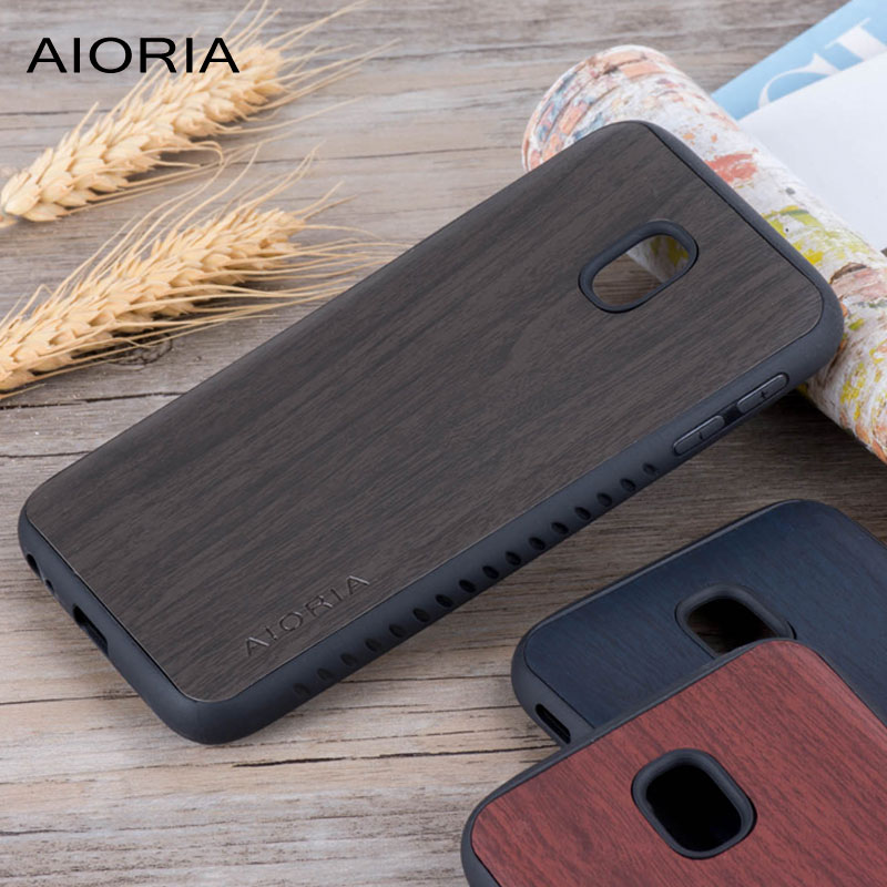 Wooden design case for Samsung Galaxy J3 2017 j330 pro soft TPU covers coque fundas