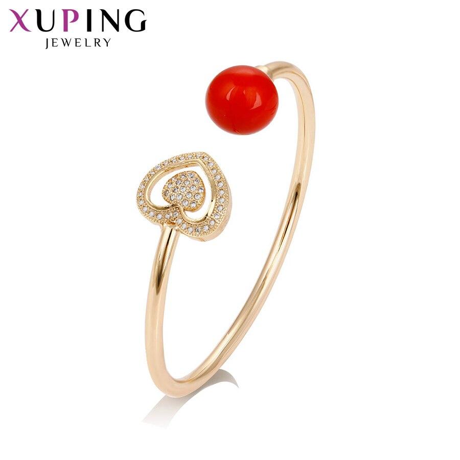 11,11 Xuping brazaletes de corazón de imitación de perlas de moda joyería familia Acción de Gracias regalo encantador mujeres niñas S163.7--51736
