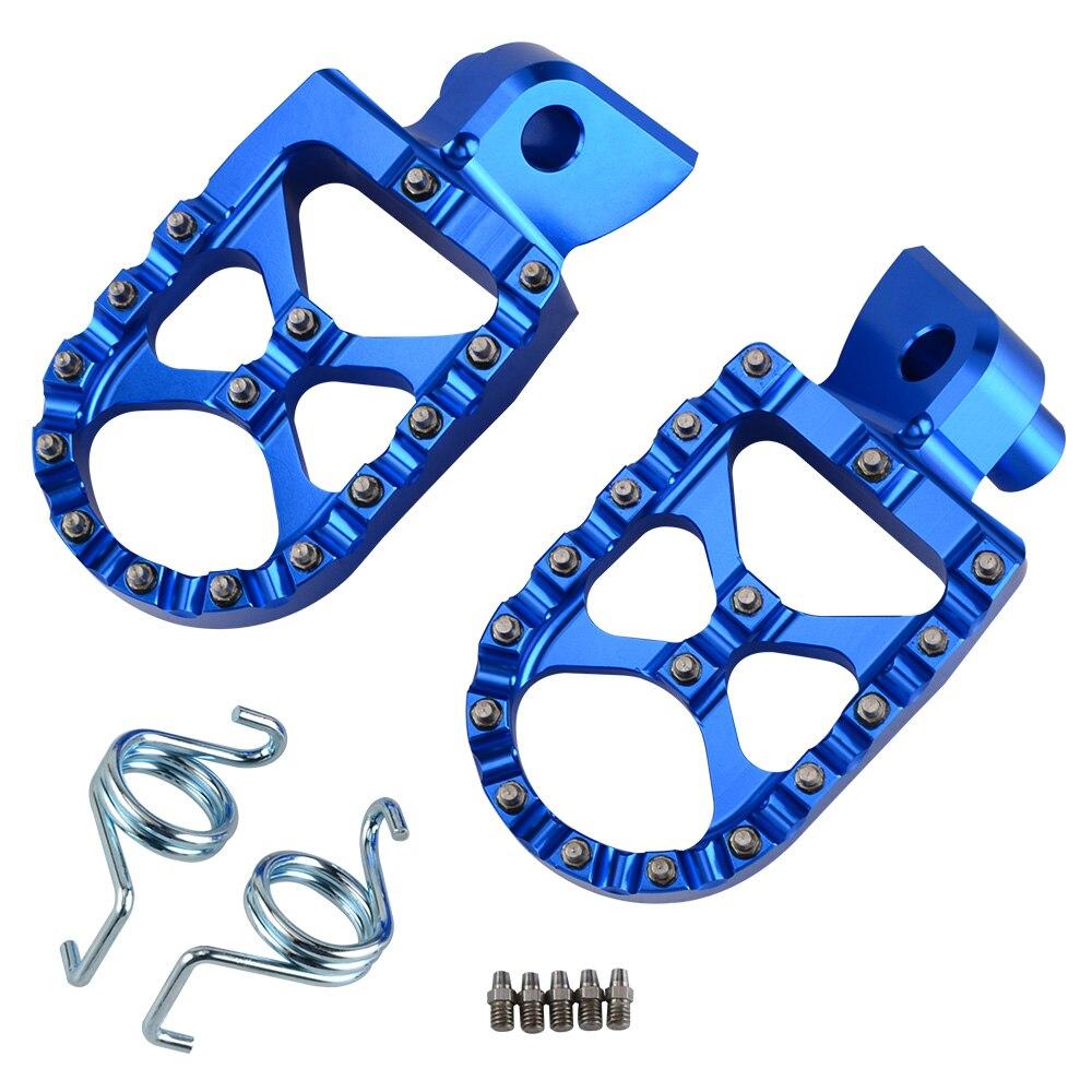 MX apoyapiés pedales reposapiés apoyapiés para Husqvarna TC FC TE FE TX FS 65 85, 125, 150, 250, 350, 390, 450, 501, 2014-2018 TX125 FS450