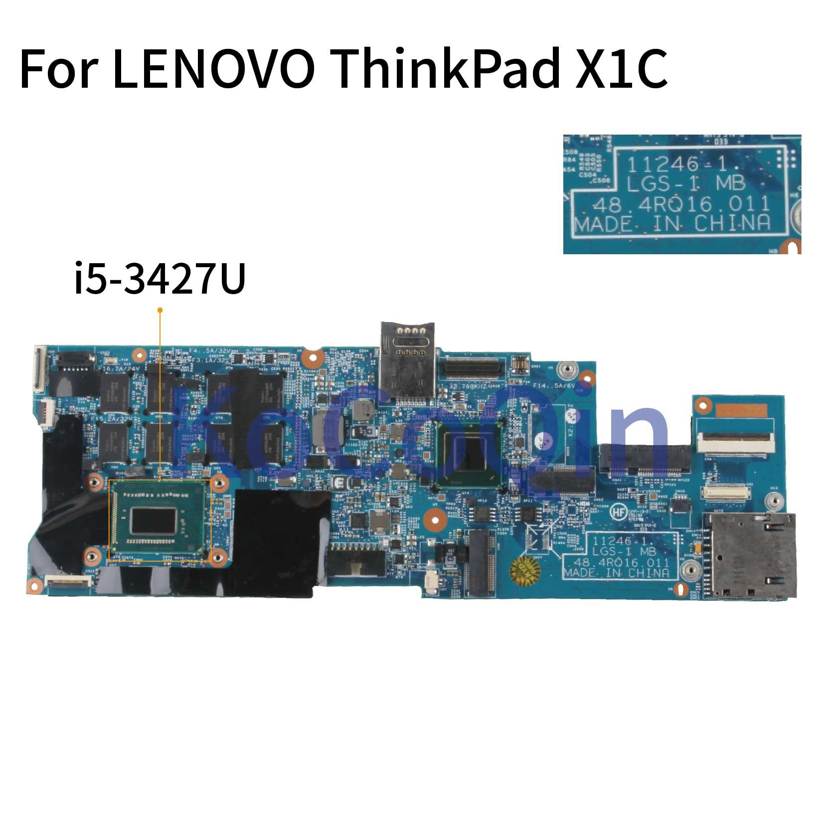 KoCoQin اللوحة لابتوب لينوفو ثينك باد X1 الكربون X1C I5-3427U 4G 11246-1 48.4RQ16.011 04W3893 04Y1972 SR0N7 اللوحة
