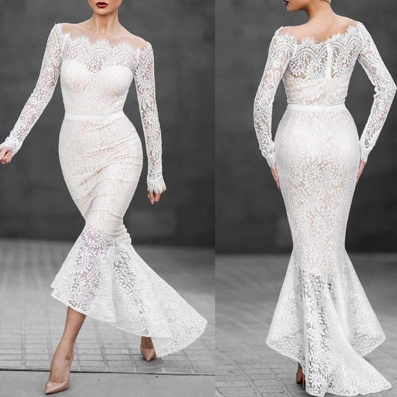 Vestido feminino branco barco manga comprida, vestido branco baile