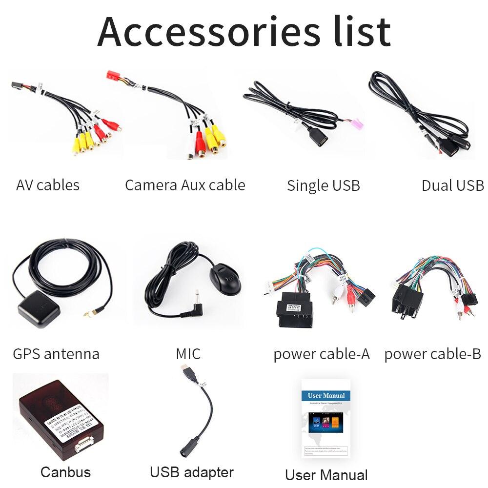 "KOOCAVS 10.2"" IPS Android 9.0 Car GPS Radio Player for Passat CC B6 B7 2010 2011 2012 2013  4GB+64GB Stereo Multimedia Headunit"