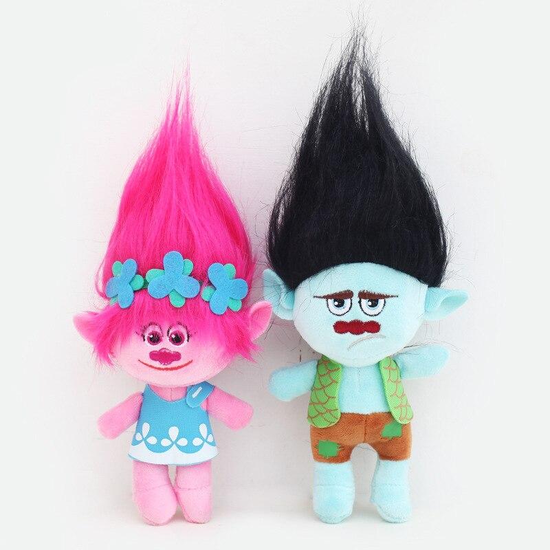 Dreamworks Movie Trolls figutas Peluche Juguetes Мягкие плюшевые куклы Poppy Branch Brinquedo Menina Мягкие плюшевые игрушки для детей