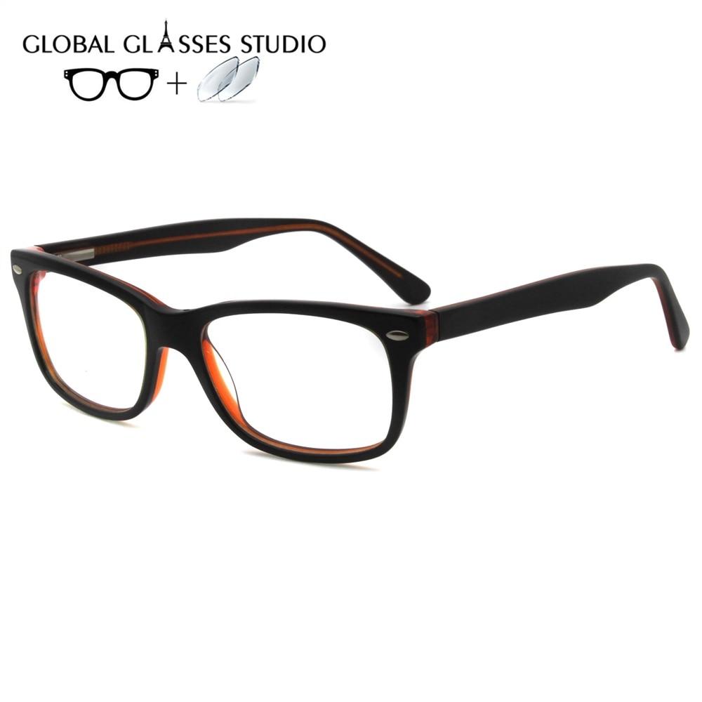 Women Acetate Glasses Frame Eyewear Eyeglasses Reading Myopia Prescription Lens 1.56 Index 19559