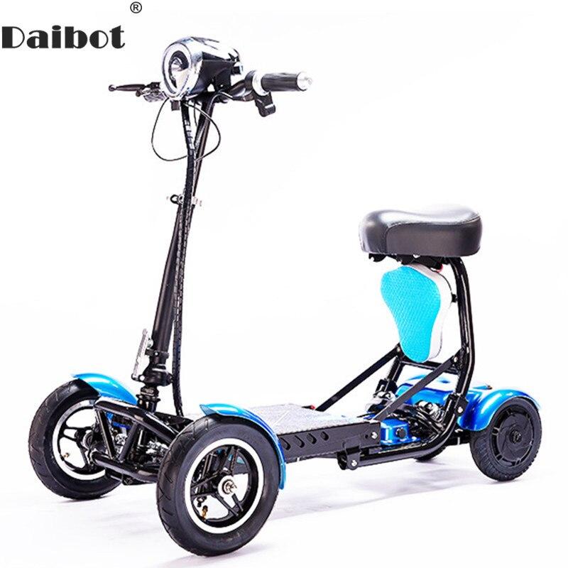 Портативный Электрический скейтборд Daibot, четырехколесный электрический скутер, 10 дюймов, 36 В