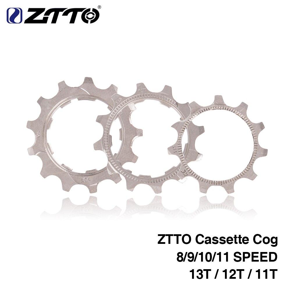 1 Uds ZTTO bicicleta Cassette Cog bicicleta de carretera MTB 8 9 10 11 velocidad 11T 12T 13T partes de rueda libre oro plata para ZTTO K7 piezas cassette