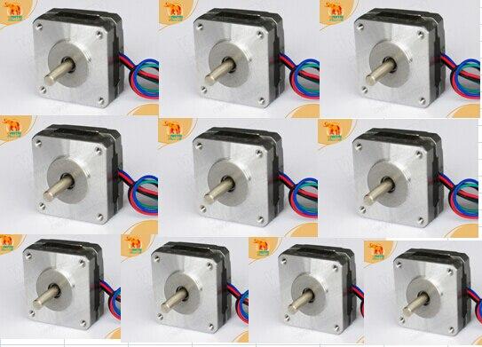 [DE EUR 10 piezas Nema16 wantai motor paso a paso 39BYG003 1000g-cm (14oz-in) 0.48A 12 V 12 V