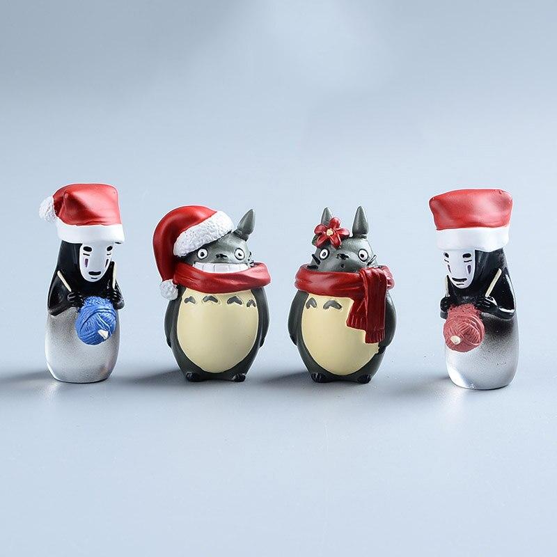 El Anime japonés Chihiro ¡sin rostro No cara mi vecino TOTORO resina Mini Navidad Studio Ghibli juguetes de Hayao Miyazaki
