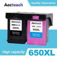 Aecteach Compatible 650XL Ink Cartridge Replacement for HP 650 XL Deskjet 1015 1515 2515 2545 2645 3515 3545 4515 4645 Printer