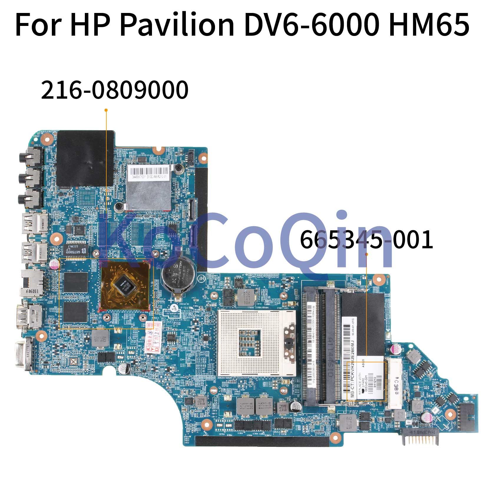 KoCoQin اللوحة لابتوب HP جناح DV6 DV6-6000 DV6T-6000 665345-001 665345-501 216-0809000 HM65 اللوحة