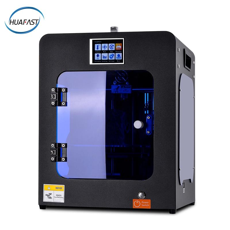 Huafast impressora 3d hs-mini impressora 3d, máquina acessível, extrusora mk10, prap, prusa i3 mk8, aluno, diy, retomar i4