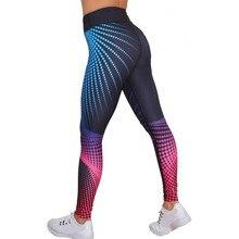 #35 Womens Workout Leggings Print Pants Skinny Workout Gym Leggings Sports Training Polyester Cropped Pants spodnie damskie