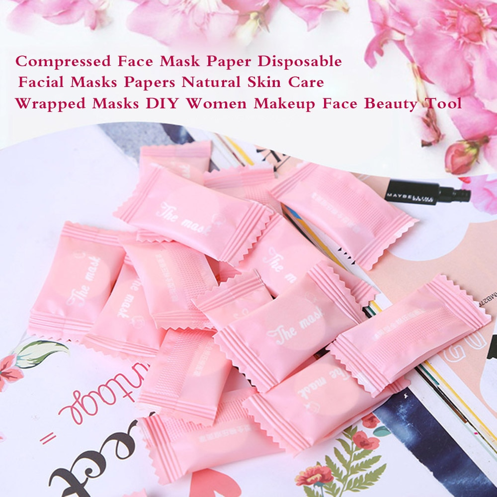 Compressed Face Mask Paper Natural Skin Care Wrapped Masks Disposable Facial Masks Papers Women Make