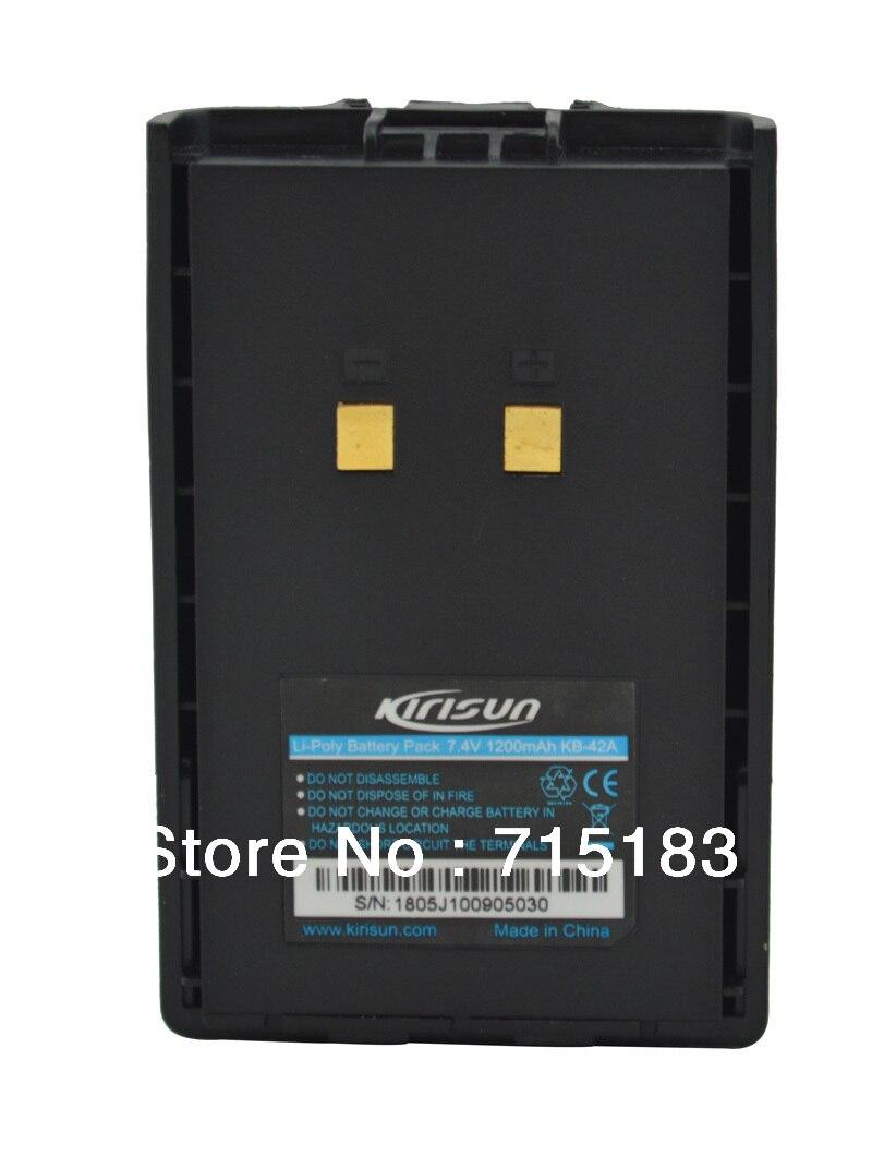 Paraguaya KB-42A DC7.4V 1200 mAh Paquete de batería Li-Ion para paraguaya PT558 PT558S PT4200 PT5200 PT668 walkie talkie con Clip para el cinturón
