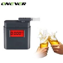 Onever Display Digital Alert Alcohol Tester Prefessional Police Alcohol Breathalyzer Parking Semiconductor Sensor Breathalyser