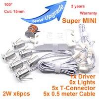 6pcs/lot Dimmable 2W Mini led cabinet light AC85-265V mini led spot downlight include led drive CE ROHS ceiling lamp mini light