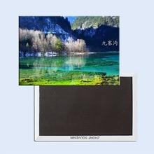 Welt Souvenir Magnete Home Decor Aufkleber, SiChuan JiuZhaiGou Tourismus Kühlschrank Magnet 5752 Großhandel akzeptieren