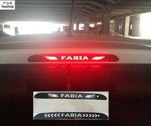 Auto-Styling Achterlicht Remlichten Lamp Protector carbon fiber Covers 3D Sticker voor Skoda FABIA 2008-2018 auto accessoires 1PCS