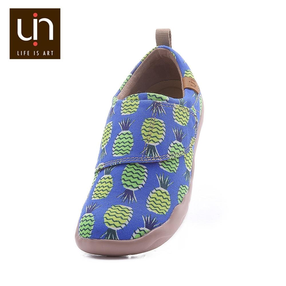 UIN Sweet & Jackfruit Design Casual Shoes for Big Kids Hook & Loop Soft Flats Boys/Girls Comfort Outdoor Sneakers Children Shoes enlarge