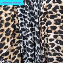 150cm*1m Fashion Leopard Parttern Print Chiffon Fabric 100% Polyester 3 Colors Soft Chiffon fabric for Diy Sewing Summer Dress