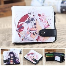 Anime/jeu Touken Ranbu PU portefeuille court zéro/porte-monnaie/portefeuille multicouche à Double bouton