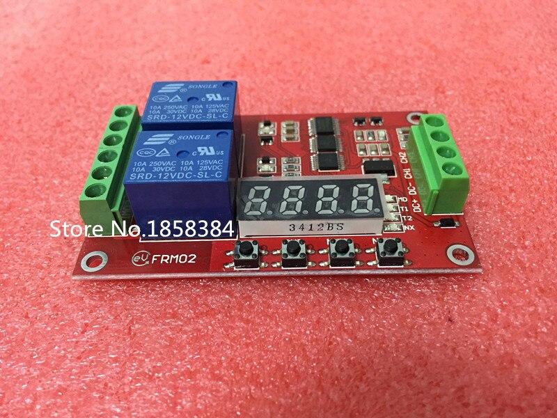 5PCS/LOT 5V,12 V 24V /FRM02 2 roads Multifunctional Relay Module / Loop Delay / timer switchself-locking