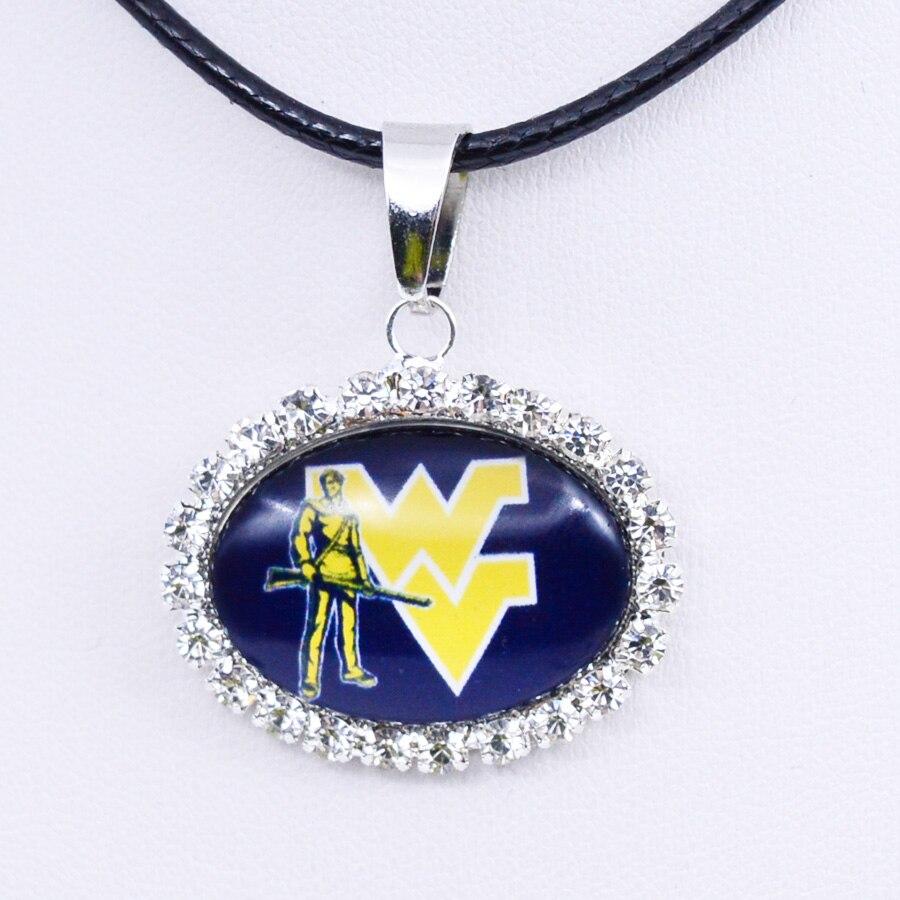 Collier NCAA West Virginia pendentif à breloque pendentif à breloque université de basket-ball bijoux pour femmes cadeaux fête danniversaire en gros 2018