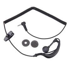 2,5mm G-Haken Hörer Kopfhörer 1 Pin in-ohr tragbare kopfhörer für Motorola GP2000 ICOM IC-U16 für polizei/ militär/türsteher