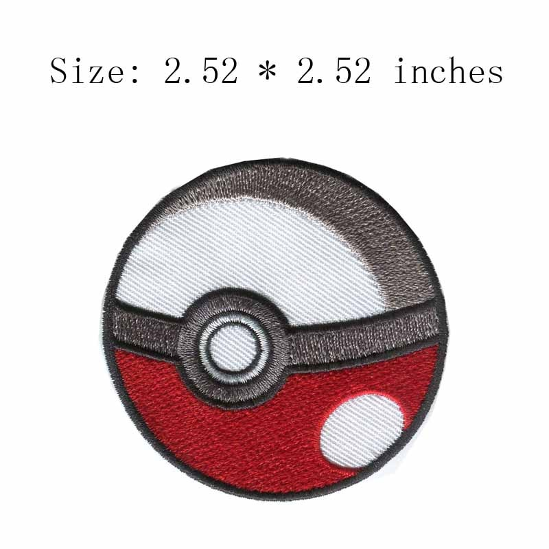 "Poke Ball 2,52 ""parche bordado ancho para juego genie/Gym Battles/Pokecoins"