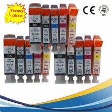PGI725 PGI 725 CLI-726 PGI-725 PGI-725XL reemplazo de cartuchos de tinta para Pixma MG-5370 MG-6170 MG-6270 MG-8170 MG-8270