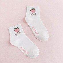 10 pairs / bag Seasons Japanese fruit pattern tube socks Cotton cute college wind ladies socks