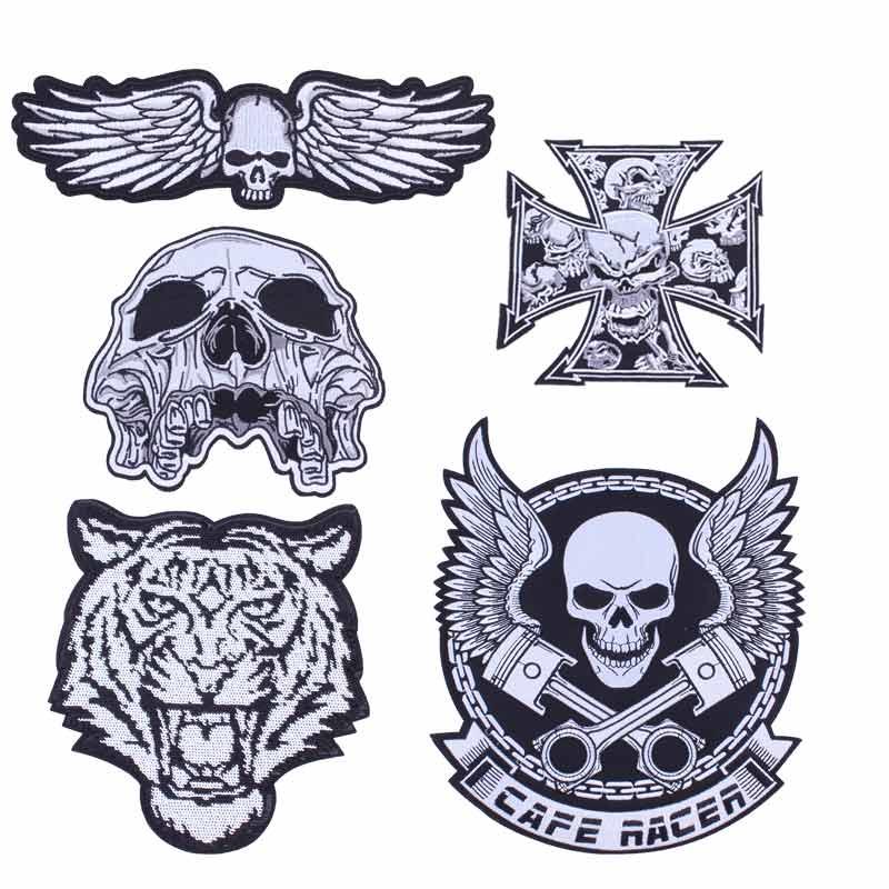 Pegatinas Prajna para ropa, parches de planchado para ropa, insignia, chaqueta, parches de banda de motocicleta para parche personalizado Motorcycl D