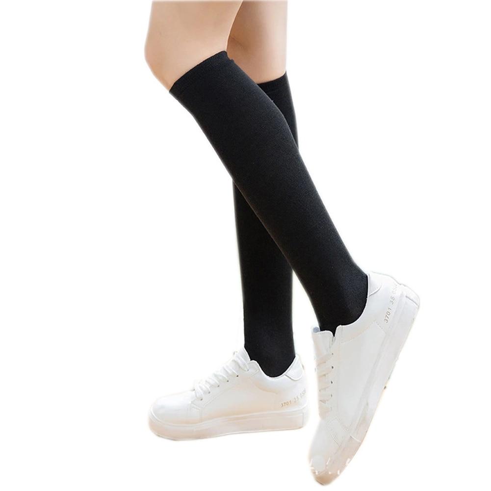 Brdwn JK mujeres chicas Alrale Cosplay fútbol calcetines pantorrilla calcetines dibujo de rayas calcetines dulce lindo caliente