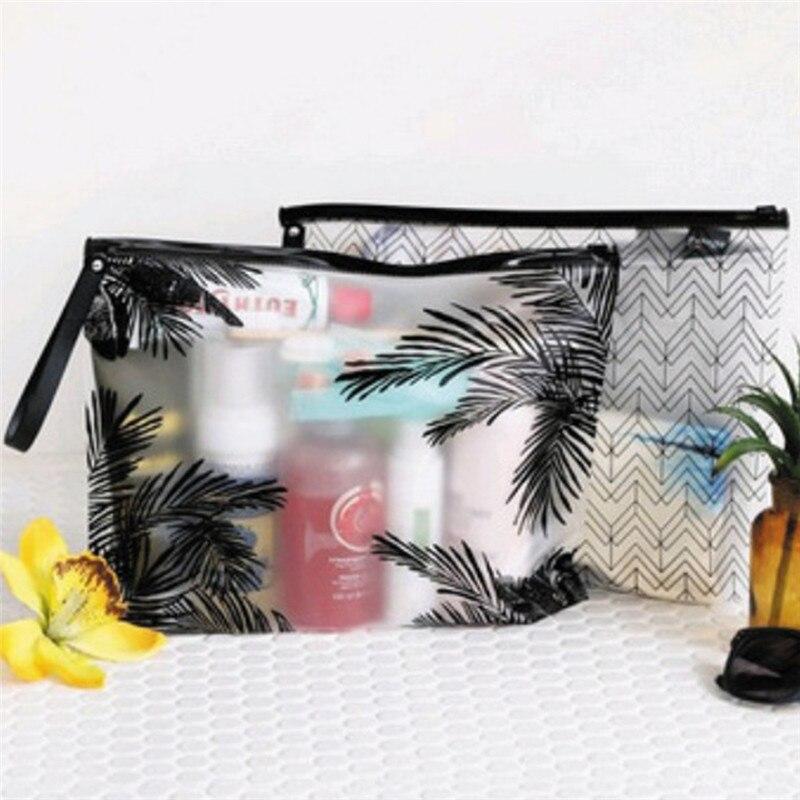 3Sizes 1Pcs Portable PVC Makeup Zipper Pouch Case Cosmetic Bag Women Makeup Bag