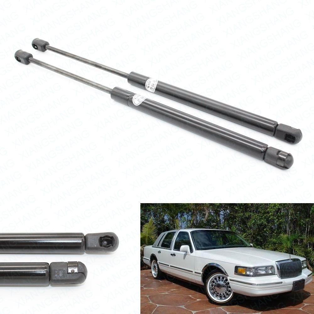 2 uds de capucha de Gas cargado soporte de elevación por resorte de barras encaja para 1990-1991, 1992, 1993, 1994, 1995, 1996, 1997 Lincoln coche Sedán