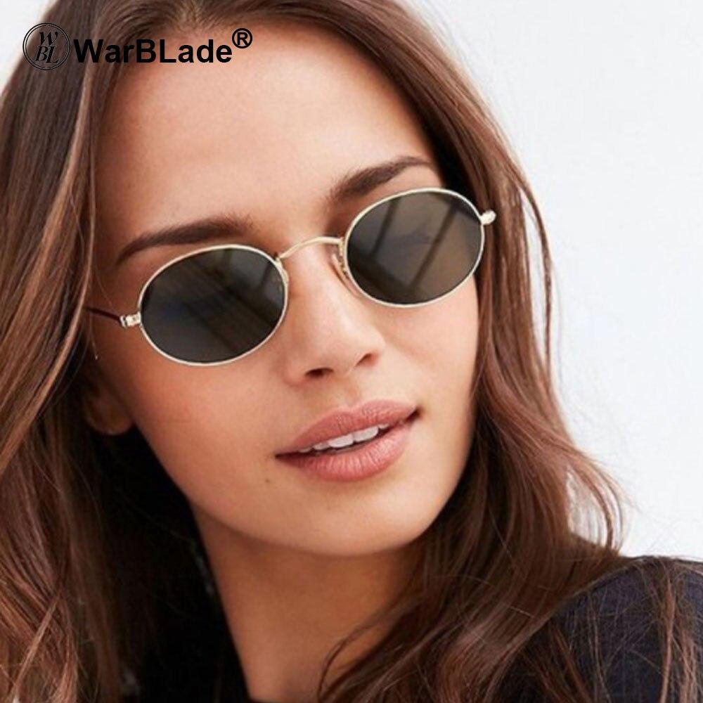 2018 Nova Moda Redonda Pequena óculos de Sol Das Mulheres Da Marca Do Vintage Óculos De Metal Quadro HD Lente UV400 óculos de Sol Óculos Shades Eyewear