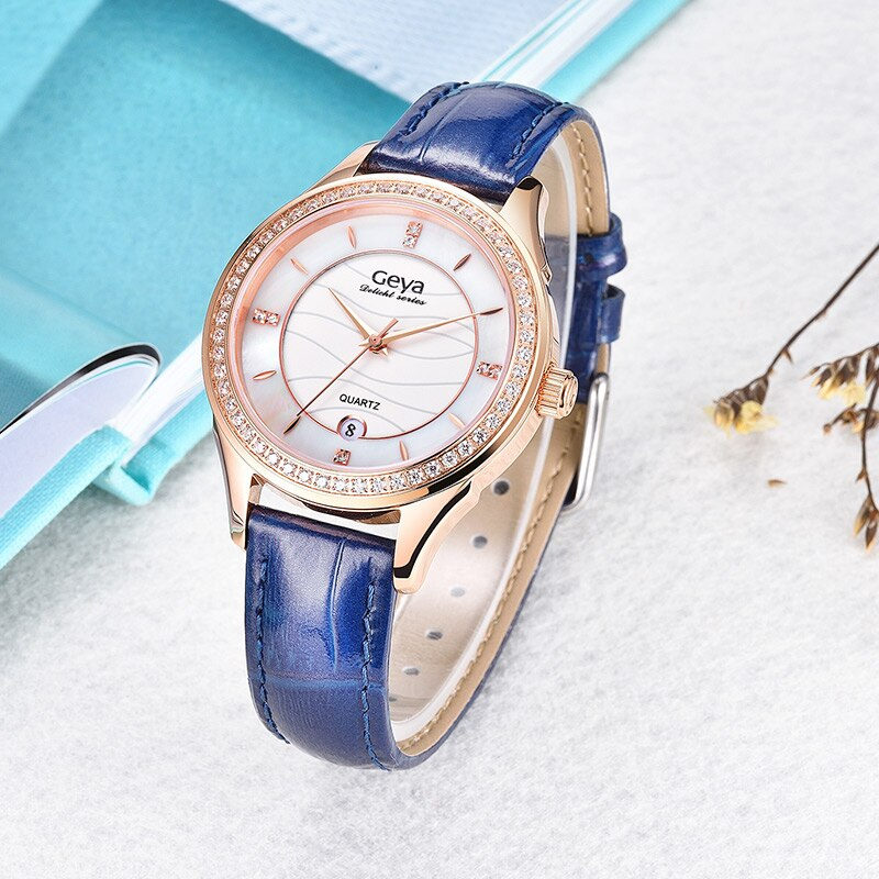 Geya Luxury Brand Japanese TMI Movement Women Watch Sapphire Waterproof Leather Female Wristwatch Fashion Quartz Ladies Clock enlarge