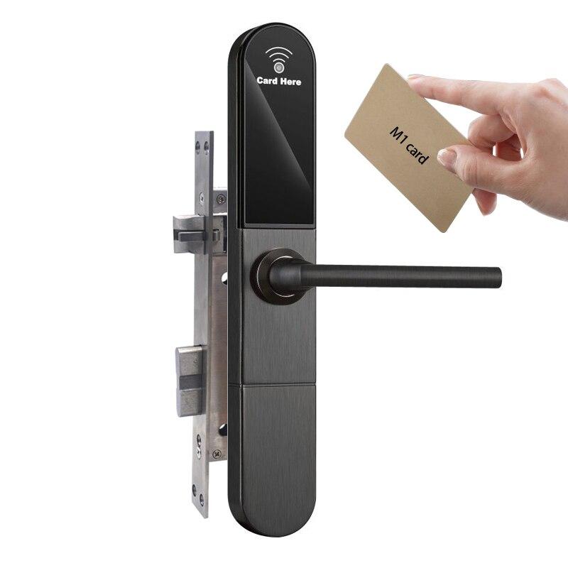Cerradura de puerta sin llave electrónica europea M1 cerradura de tarjeta para puerta alemana de 30mm de espesor