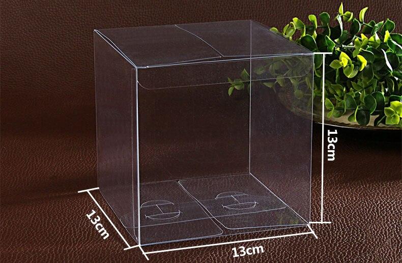 30 stücke 13*13*13 cm einfache Klar Hochzeit PVC Box Geschenk Handwerk display Box kleine Schmuck verpackung halter Transparent kunststoffboxen