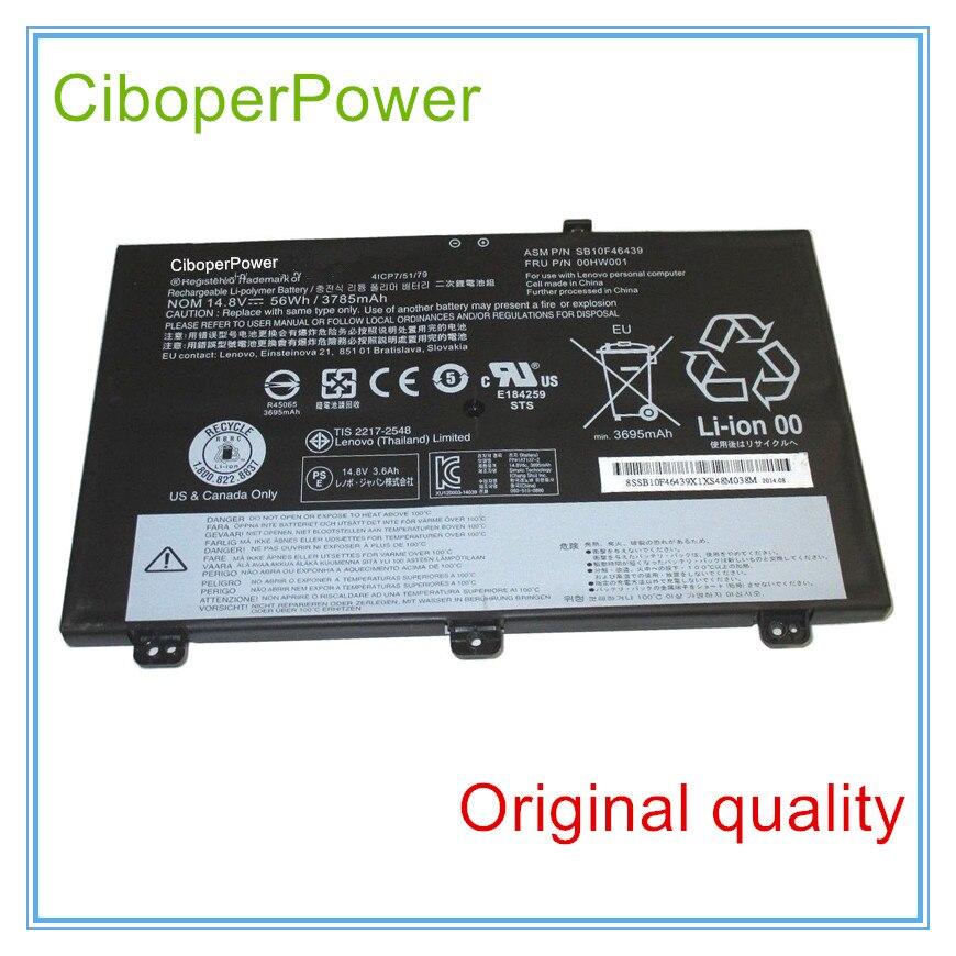 Original 14.8V 56Wh 3785mAh battery For S3 14.0 inch 00HW001 SB10F46439