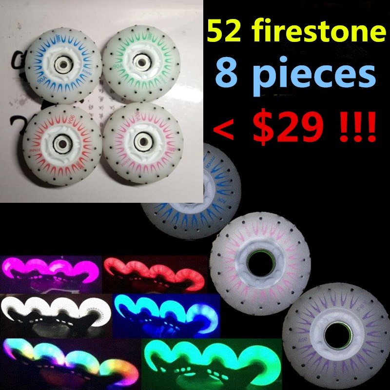 Роликовые колеса для катания на коньках Slide KING 52 firestone 80 мм 90A Fire Stone Spark Shine Flint Rodas для SEBA, Powerslide, роликовые коньки