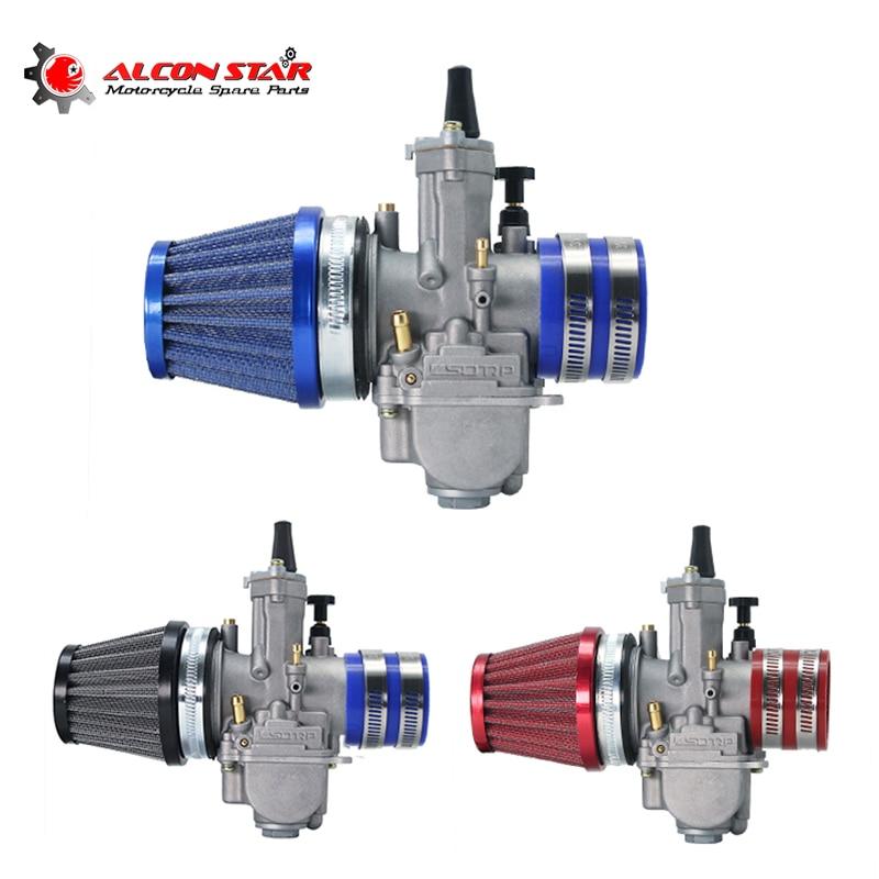 Adaptador de goma para motocicleta Alconstar, Colector de admisión + filtro de aire + carburador para Motocross PWK 21 24 26 28 30 32 34mm