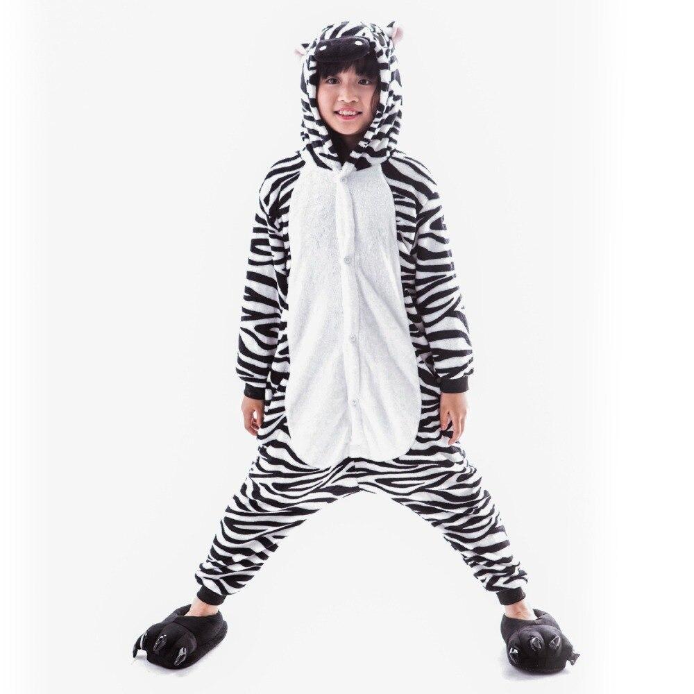 Ropa de animales de franela de manga larga pijamas de animales unidos pequeña vaca fantasía cómic película carnaval fiesta Purim Halloween