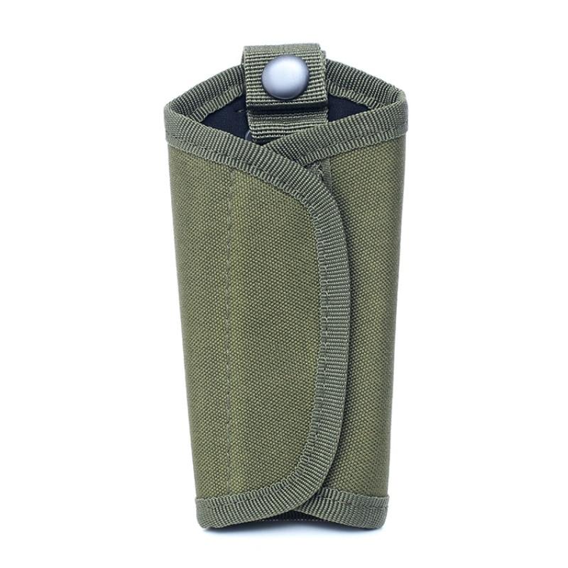 Bolsa EDC impermeable para exteriores, Sostenedor de mosquetón de llave 600D, bolsa táctica de nailon, bolsa para llavero, funda para llavero, herramienta de cuero para exteriores