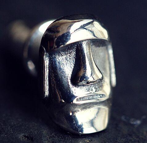 Regalrock Cute Steampunk Pascua isla joyería facial Moai pendiente del perno prisionero